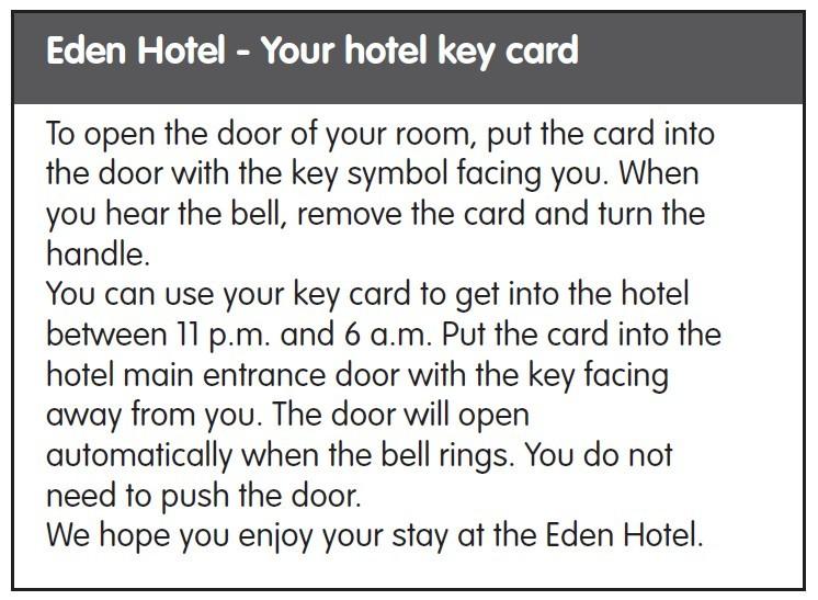 Testo di presentazione di un hotel in inglese
