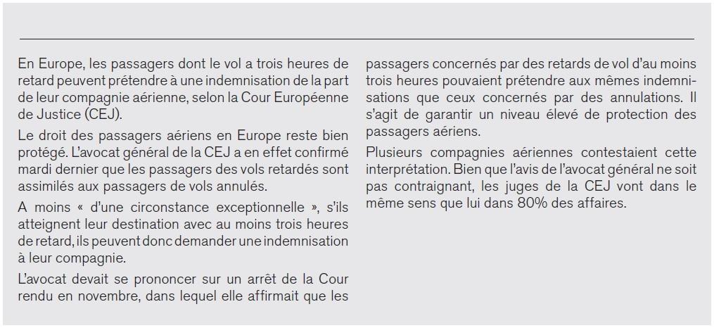 Articolo in francese