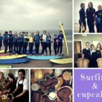 Collage Surfing & baking in Whitely Bay