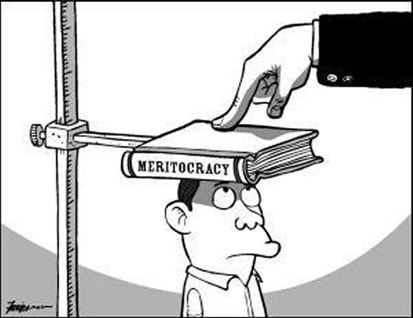meritocrazia che schiaccia uno studente